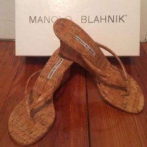 NWT Manolo Blahnik Patent Leather Sandals